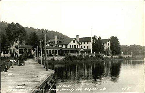 (The Pier Hotel and Cottages, Door County Egg Harbor, Wisconsin Original Vintage Postcard)