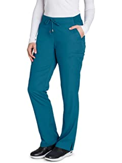 a89ffc7189d Grey's Anatomy 6-Pocket Flat Front Pant for Women - Modern Fit Medical Scrub  Pant