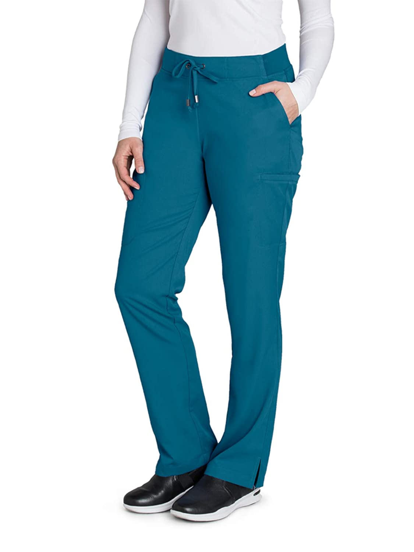 fb40b202869 Amazon.com: Grey's Anatomy 6-Pocket Flat Front Pant for Women - Modern Fit Medical  Scrub Pant: Clothing