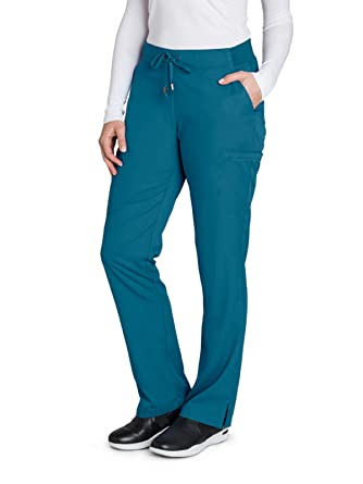 7176ecbe79f Amazon.com: Grey's Anatomy 6-Pocket Flat Front Pant for Women ...