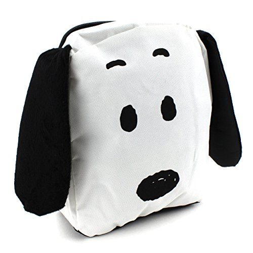 Peanuts Snoopy 10 Inch Mini Backpack 3D Ears (White - Mile Mall Miracle