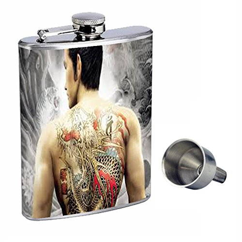 低価格の Tattoo Perfection inスタイル8オンスステンレススチールWhiskey Flask with Tattoo with Free Funnel d-010 Perfection B0181MLOGW, 一関市:c14dc777 --- sparkinsun.com