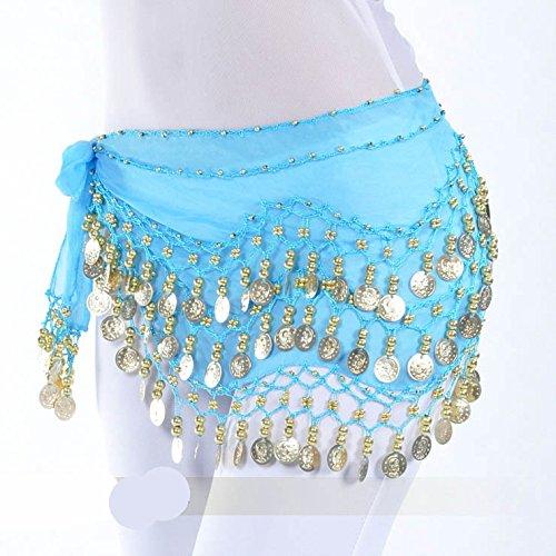 Style Vogue Cadeau nbsp;pièces Style 128 Idée Écharpe d'or Belly Dance 6 Hip Tnwxg0q