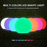 solar lights outdoor pool - Sunwind Solar LED Ball Light 8inch Color Changing Solar Globe Light Pool Floating Waterproof LED Lights with Remote Control for Garden & Patio Decorative Lighting (8-Inch Ball 1 Pack)