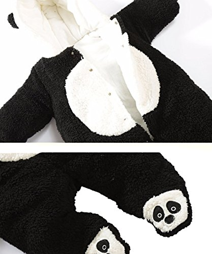 Fairy Baby Baby Boy Girl Winter Flannel Bunting Outfits Romper Outwear,6-12M,Black Panda