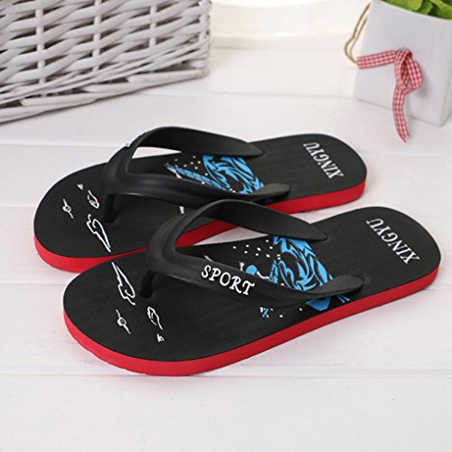 Beach 5 Sandals Skidding Fashion Flat Flops Pinch Heels Black Size Women Shoes EVA 5 VPASS Anti Men's Spring Injection Slipper Shoes 6 8 Summer Low Sandals Flip wqIg6U7