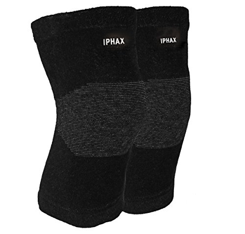 IPHAX Knee Support Sleeves (Pair) for Joint Pain and Arthritis Relief, Improved Circulation Compression – Effective Support for Running, Jogging, Workout, Hiking and Recovery (Black, (Outdoor Pend)