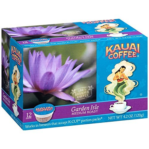 Kauai Coffee Garden Isle Medium Roast, Single Serve Cups, 24 Count