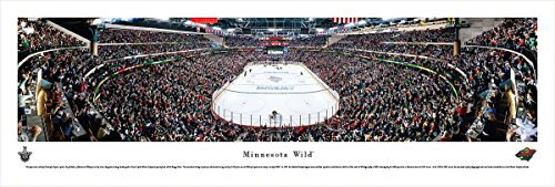 Minnesota Wild - End Zone View at Xcel Energy Center - Panoramic Print