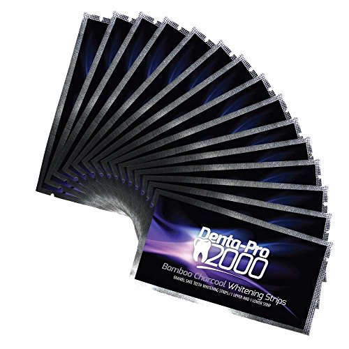 Dentapro2000 Teeth Whitening Activated Bamboo Charcoal Strips - Instantly See Results Without The Messy Charcoal Powders