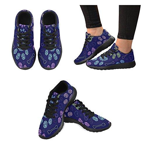 mujer Zapatillas para negro 2 Color running de de Lona Zenzzle Negro YTOCqnO