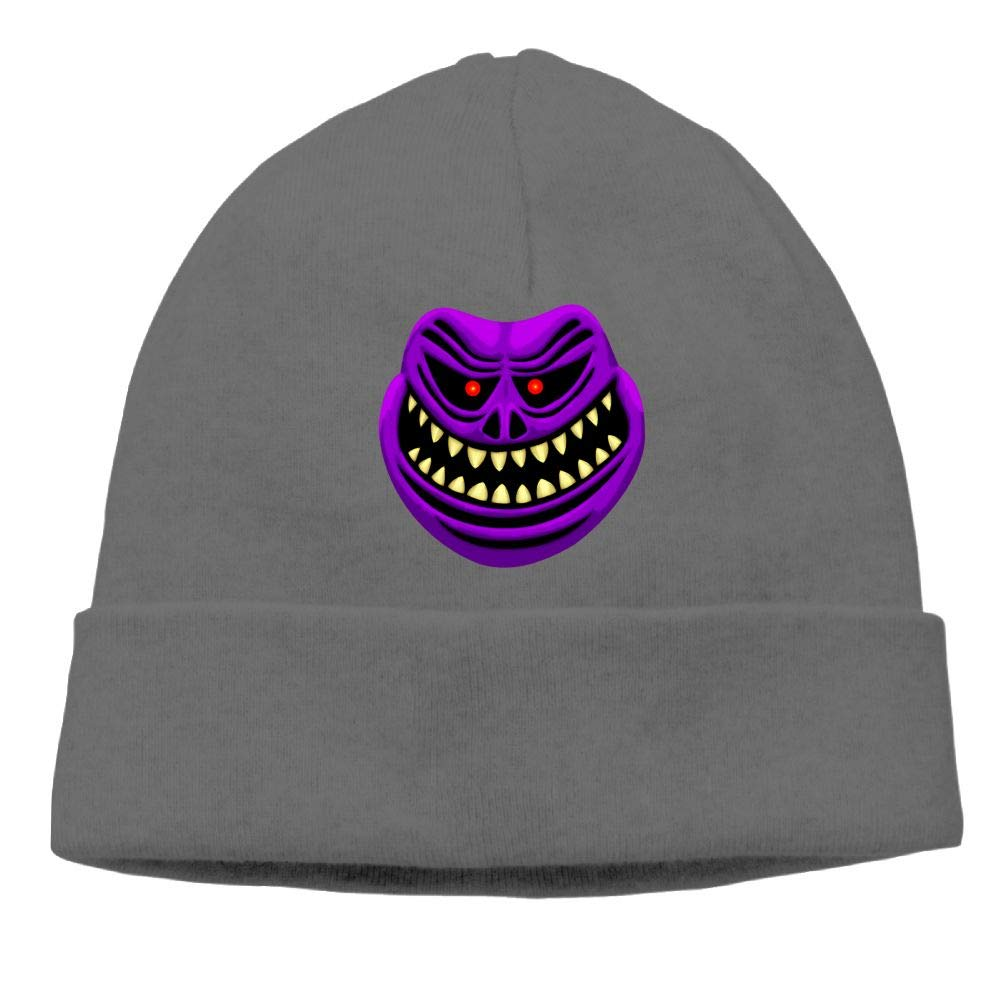 Oopp Jfhg Scareface Grimace Beanies Knit Hats Ski Cap Men DeepHeather