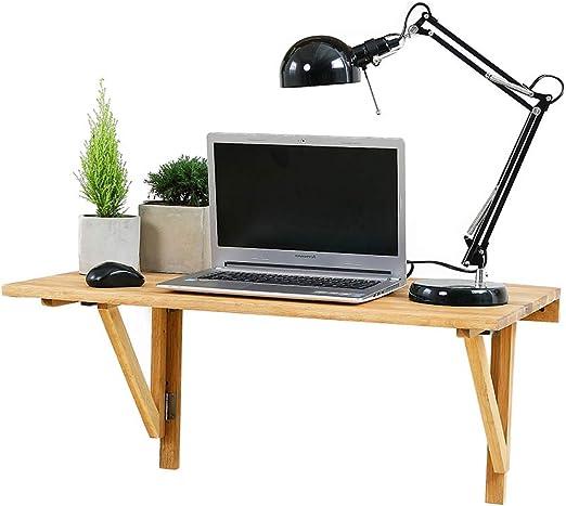 Mesa de madera maciza de roble para montar en la pared, mesa ...