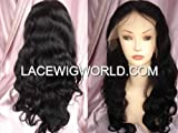 Premium Velvet Wavy Indian Remy Full Lace Wig-26 Inches