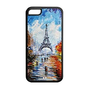 Classic Style Custom Design Hard Rubber Case for iPhone 5c - Eiffel Tower