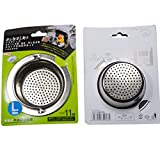 Coffee Grounds in Garbage Disposal Stainless-Steel Kitchen Sink Strainer - Large Wide Rim 4.33