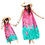 A Set of 2 Summer Family Travel/Daily Dress for Mother and Daughter
