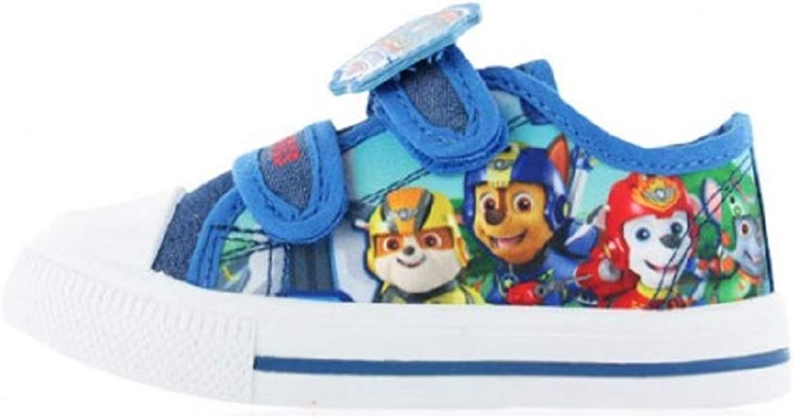 506d9713d1b8f Boys Character Canvas Pumps Trainers Low Top Plimsolls Size UK 6 7 8 9 10 11