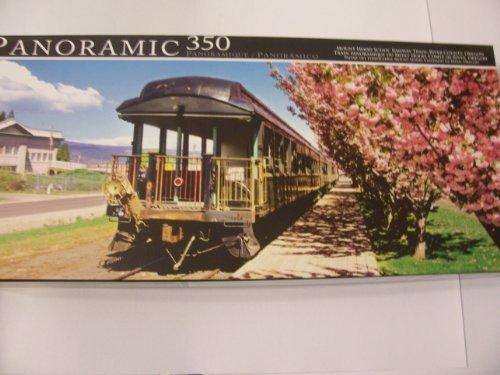 Panoramic 350 Piece Puzzle - Mount Hood Scenic Railway Train, River County, Oregon