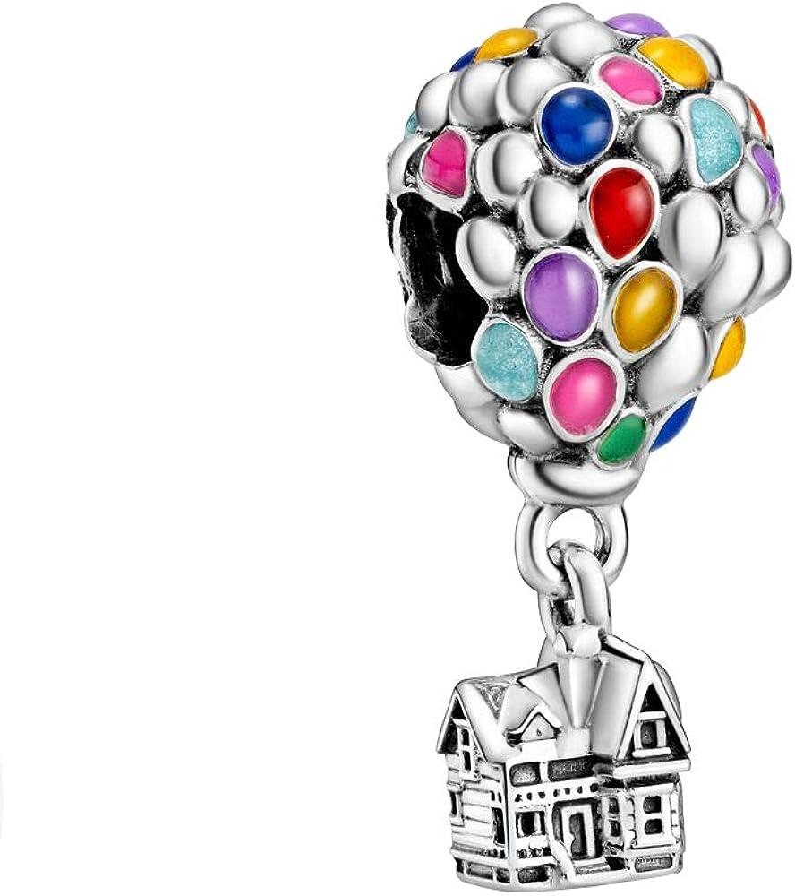 Pandora Disney Up 798962C01 - Colgante de casa y globos (11 x 23,5 x 11 mm), color plateado y multicolor