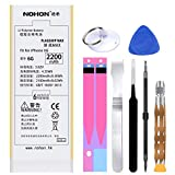 Original NOHON High Capacity Battery Replacement for iPhone 7 6 6S Plus 5 5S SE (2200 mAh for iPhone 6)