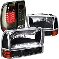 Ford F250 Super Duty Style Side, Black Headlights, Corner, Smoked Led Tail Lamps