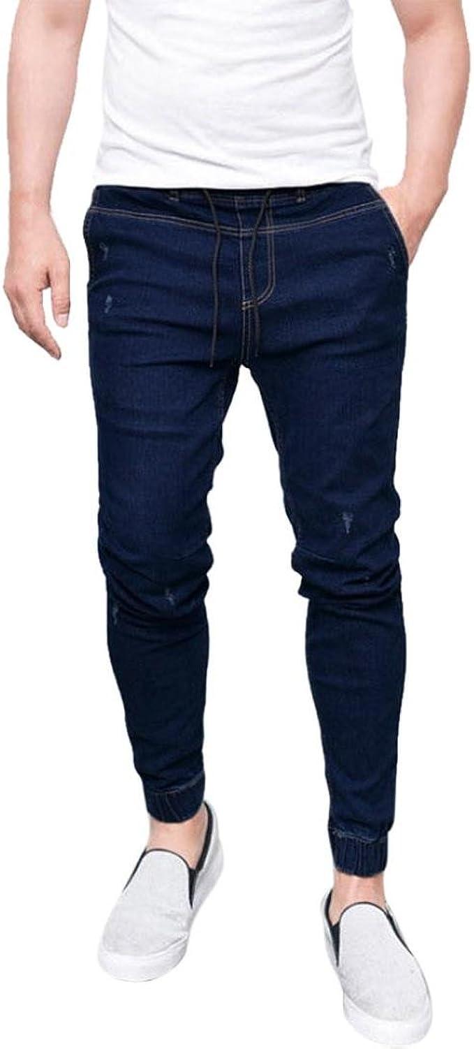 zycShang Nueva moda Pantalones vaqueros ajustados delgados