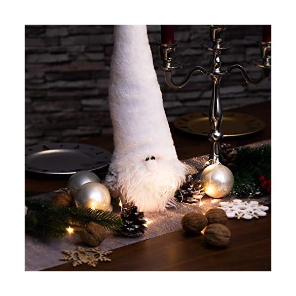 com-four® Gnomo Natalizio Taglia L per la Decorazione Natalizia, Figura Invernale Come Articolo di Decorazione Svedese, Grazioso Sgabello ad Angolo Come Decorazione o Regalo 2 spesavip