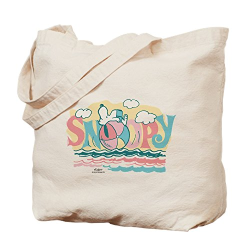 Snoopy Ball (CafePress - Snoopy Beach Ball - Natural Canvas Tote Bag, Cloth Shopping Bag)