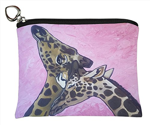 (Salvador Kitti Change Purse, Vegan Coin Purse - Animals - from My Original Paintings - Support Wildlife Conservation, Read How (Animals) (Comfort - Giraffes))