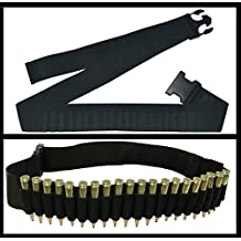 Ultimate Arms Gear Black 20 Round Rifle Cartridge Ammunition Ammo Reload Carrier Tactical Belt Fits .308 308 Federal Arms HK91 G3 Bolt Lever Pump Action Sniper Hunting Rifle