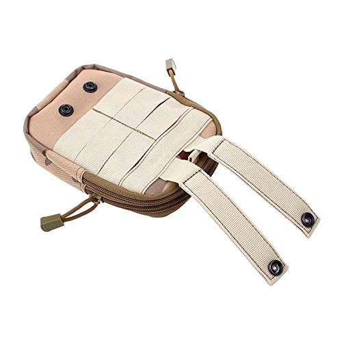 CHEEFULL Universal Multipurpose Taktische Tasche Gürtel Taille Pack Tasche Military Taille Fanny Pack Telefon Tasche Gadget Geld Tasche (Tarnung)
