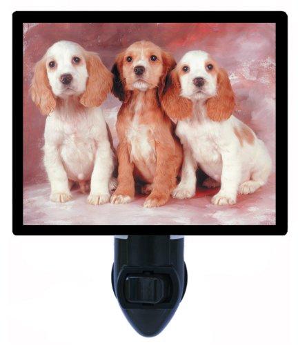 Dog Night Light, Cocker Spaniel Pups, Puppies LED Night Light