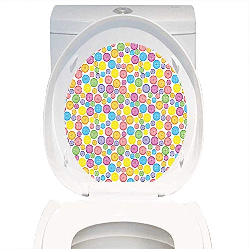 waterproof removable stickers modern circular