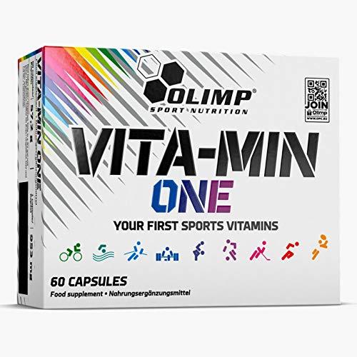 Olimp Vita-Min One Your First Sports Multi Vitamin and Mineral Complex Biotin Ginseng VIT C D B12 60 Capsules