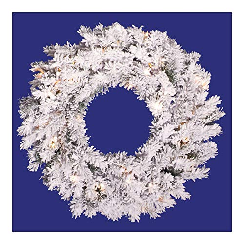 Alaskan Pine Wreath Clear Lights - 36