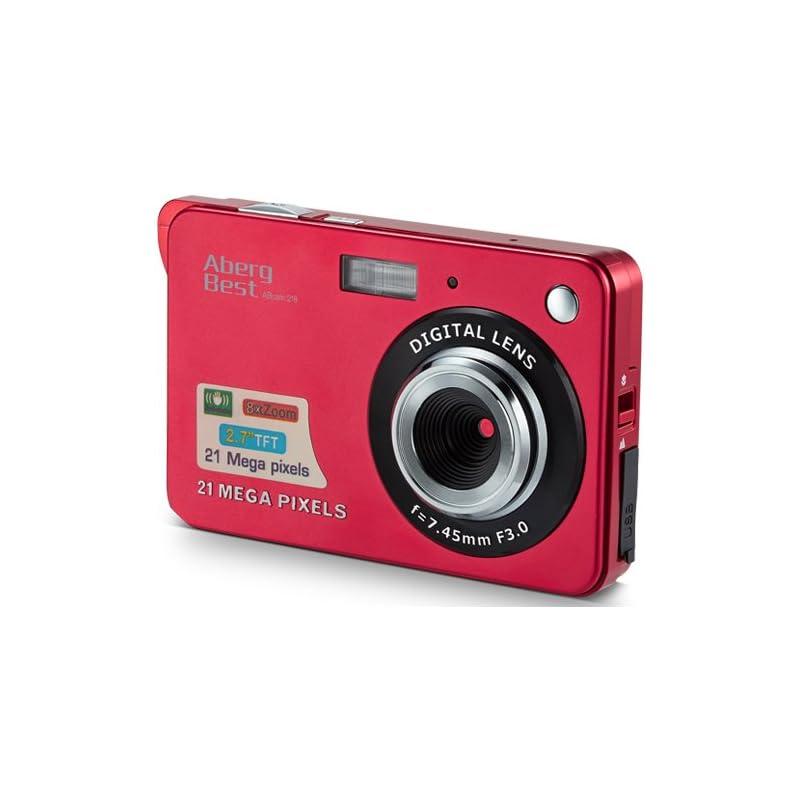 "AbergBest 21 Mega Pixels 2.7"" LCD Rechargeable HD Digital Camera Video camera Digital Students cameras,Indoor Outdoor for Adult /Seniors / Kid"