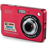 "AbergBest 21 Mega Pixels 2.7"" LCD Rechargeable HD Digital Camera - Digital video camera - Students cameras - Indoor Outdoor for Adult/Seniors / Kids (Red)"