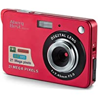 "AbergBest 21 Mega Pixels 2.7"" LCD Rechargeable HD Digital Camera Video Camera Digital Students Cameras,Indoor Outdoor for Adult/Seniors/Kid (Red)"