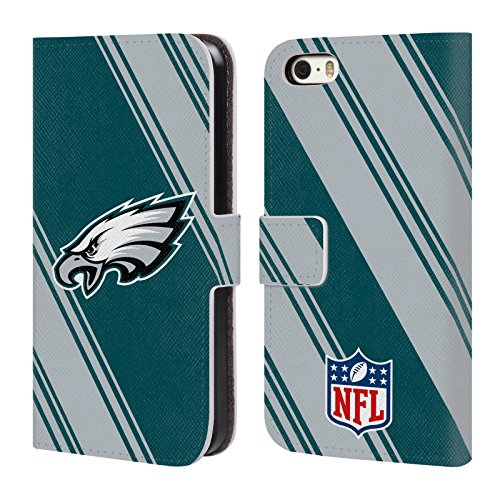 2017/18 Philadelphia Eagles Leather Book Wallet Case Cover for iPhone 5 iPhone 5s iPhone SE ()