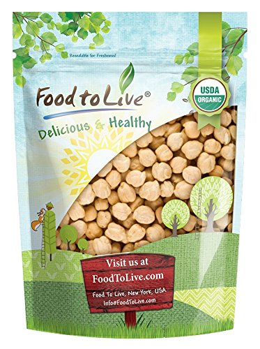 Organic Garbanzo Beans/Dried Chickpeas by by Food to Live (Non-GMO, Kosher, Raw, Sproutable, Bulk)  1 Pound