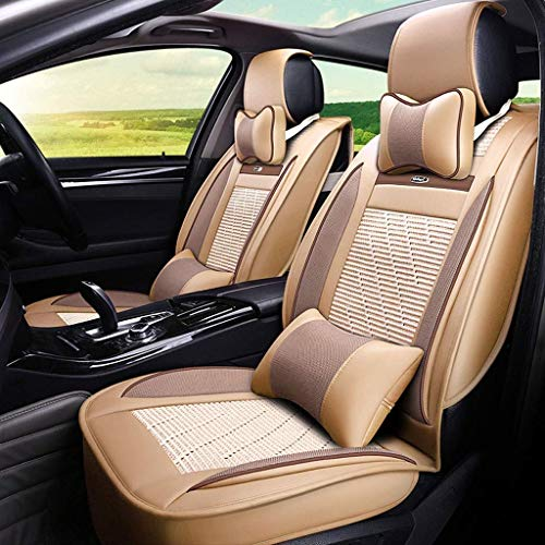 GZTYLQQ Car Seat Covers Set Leather, Universal 5 Seats Seat Cushions for the front seats and rear seat Seats Seat cover with cushions (Color : Beige): Amazon.co.uk: Sports & Outdoors