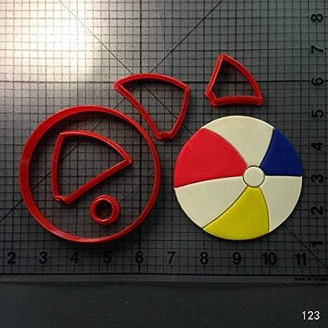 Beach Ball Fondant Cutter Set Cutter 3d printed plastic