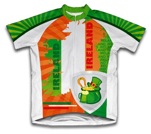 ScudoPro Luck of The Irish Short Sleeve Cycling Jersey for Men - Size 4XL Green