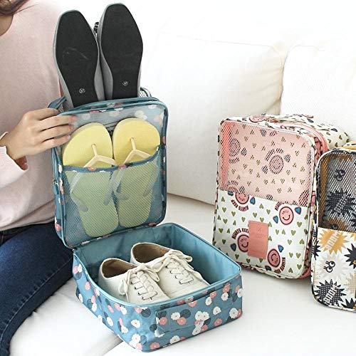 AnAnChange Waterproof Women Travel Cosmetic Bag Organizer Makeup Case Pouch Toiletry Make Up Bag Men's Shose Bag Shoe Sorting Pouch (Pink) (King Size Mattress Bag Moving)