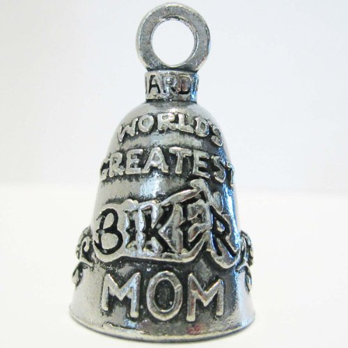Guardian World's Greatest Biker Mom Motorcycle Biker Luck Gremlin Riding Bell or Key Ring