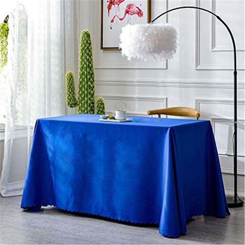 dtyjhu Thickened Hotel Restaurant Round Table Tablecloth Restaurant Wedding Event Meeting Rectangular Tablecloth Push Coffee Table Sapphire Blue 150x260cm