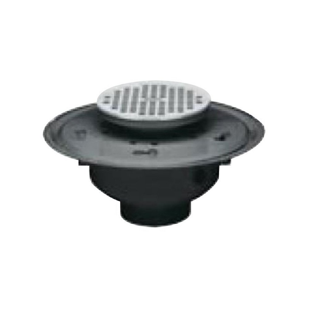 Oatey 82122 ABS Adjustable Commercial Drain with 6-Inch BR Grate, 2-Inch hot sale