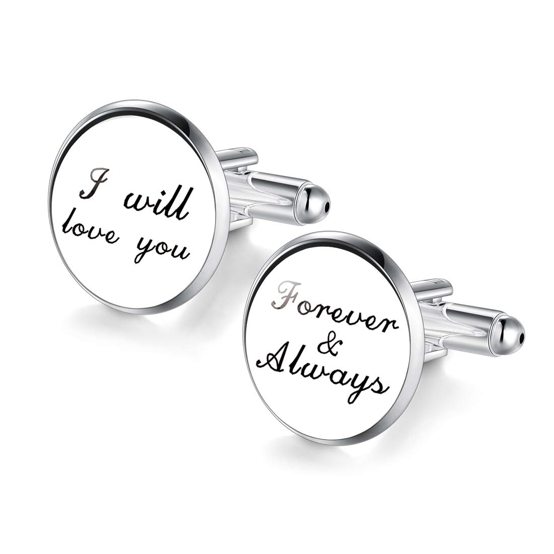 Jiayiqi Cufflinks i Will Love You Forever & Always