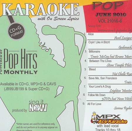 Chart Hits Monthly Pop - June 2010 Karaoke CDG by Various